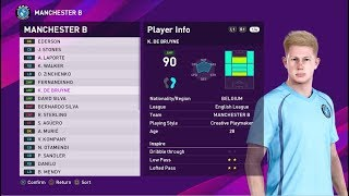 PES 2020 Manchester City - Player RATINGS, FACES & SKILLS