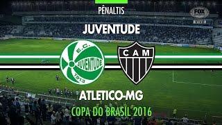 Pênaltis - Juventude x Atlético-MG - Copa do Brasil - 19/10/2016