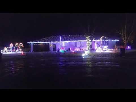 Beastie Boys Intergalactic Pinewood Christmas light display