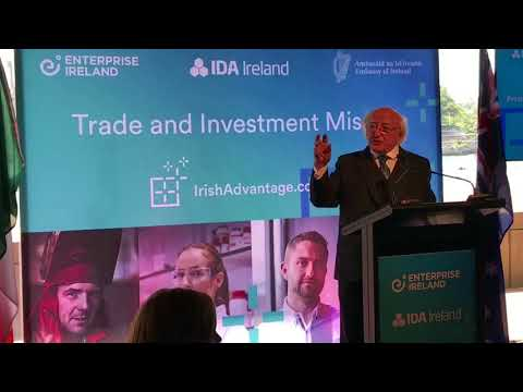 President and Sabina attend an Enterprise Ireland lunch meeting