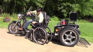 WOW!  Wheelchair Accessible Custom Trike with Glide'n Go LIft System & Swivel Seat