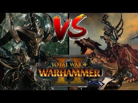 Dark Elves vs Lizardmen | Total War Warhammer 2 Multiplayer Showcase