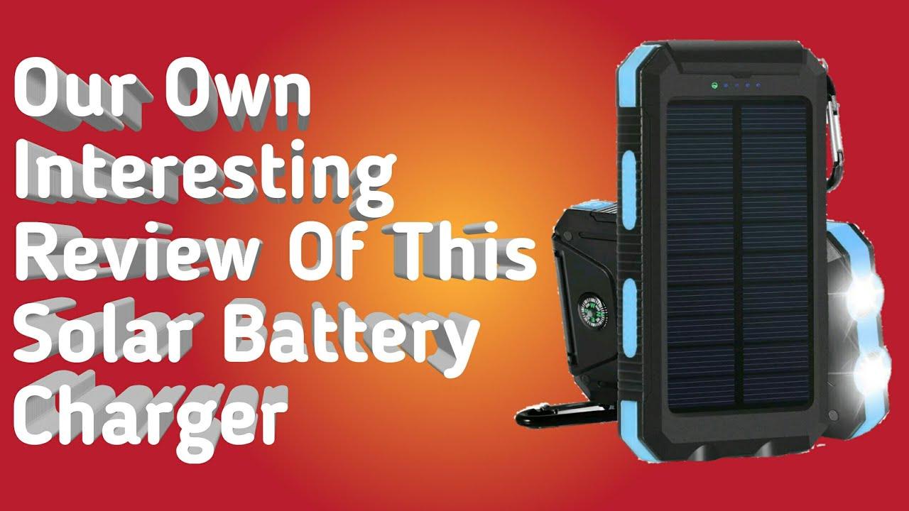 OUTXE Solar Power Bank 10000mAh Rugged Solar Charger Waterproof with Led Flashlight Orange