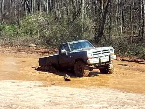 Dodge Power Ram in Mud hole - YouTube
