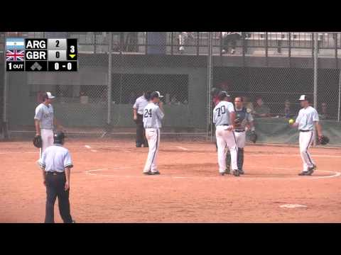 Softball Fight - Great Britain vs Argentina  - 2015 ISF Men'