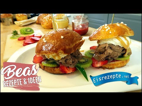 Eis-Burger | Eistrend 2017 - Das ist Angesagt | Brioche Burger Buns Rezept