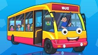 Rodas no ônibus desenho animado desenho infantil Vídeo para crianças Kids Songs Wheel On The bus