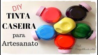 Tinta caseira para artesanato usando apenas 3 cores – Dica econômica