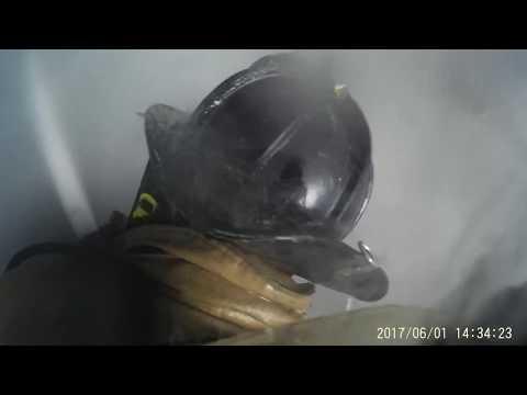 HELMET CAM: Watch a firefighter's P.O.V. entering a burning building
