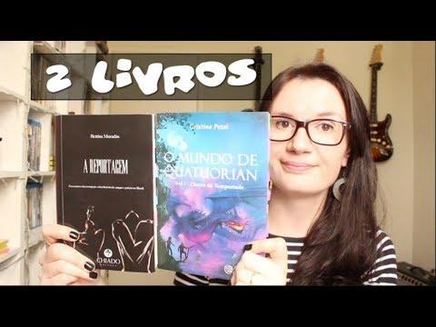 2 Livros: A Reportagem Bettina Muradás + O Mundo de Quatuorian Cristina Pezel