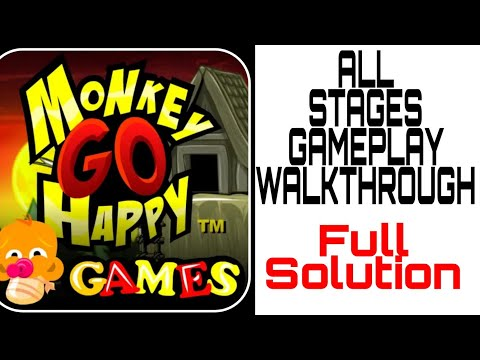 Monkey Go Happy All Stage Full Gameplay Walkthrough Solution Answer How To Solve?