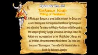 Shiv Mahapuran with English Subtitles - Episode 34 with English Subtitles [Full Song] I Tarkasur Vadh ~ Killing of Tarakasur