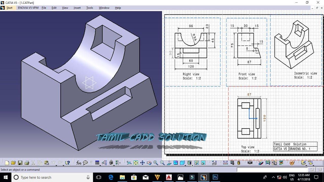 Catia part design drawings