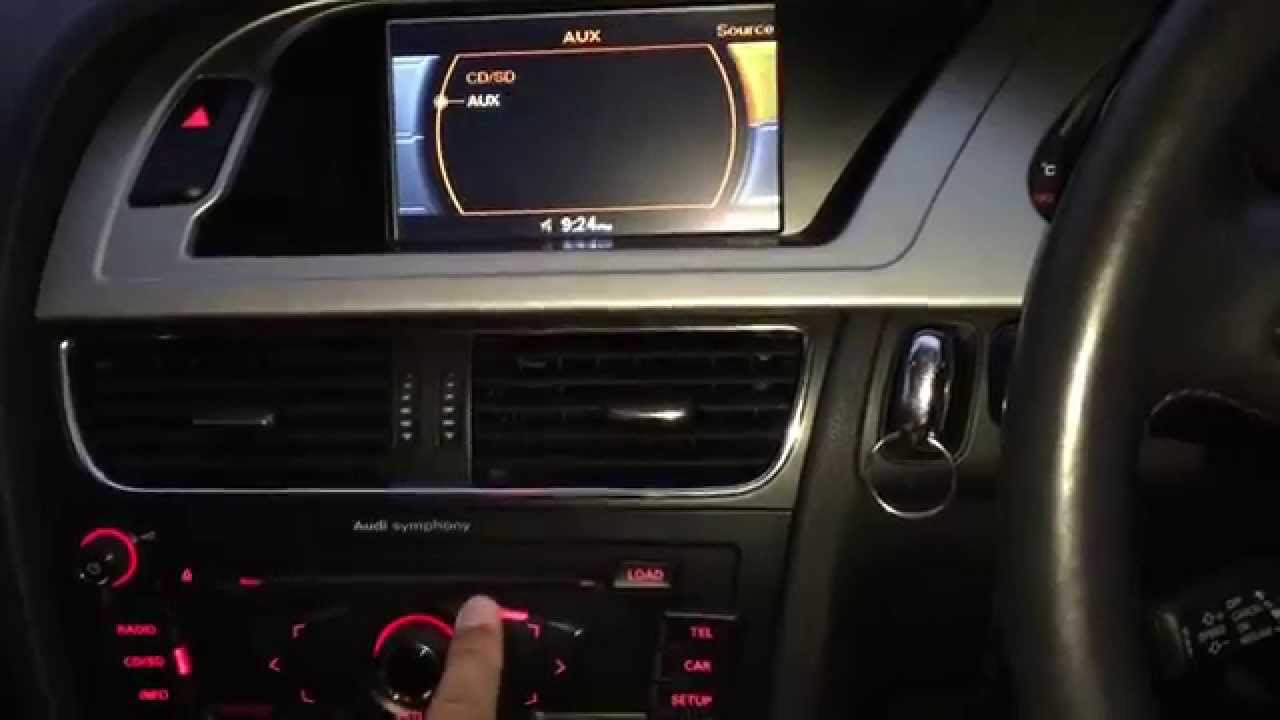 Audi A4 B8 Activate Aux Dvd Youtube