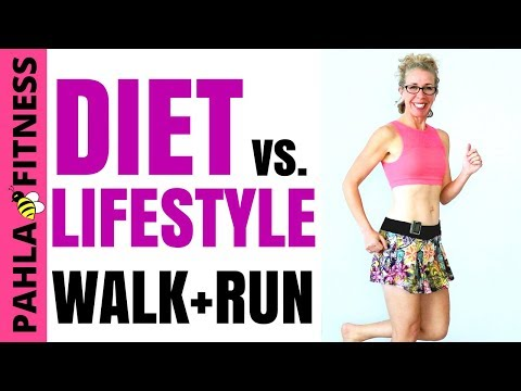 20 Minute WALK  RUN Podcast  Should You Go on a DIET or Change Your LIFESTYLE to Lose Weight?