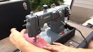 Toyota Sewing Machine!!   Morse Fotomatic ZigZag Sewing Machine by Toyota
