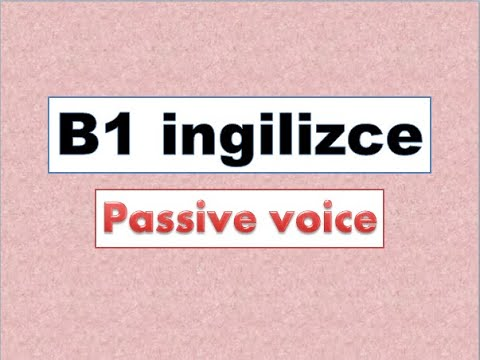 English for Turkish students- passive voice