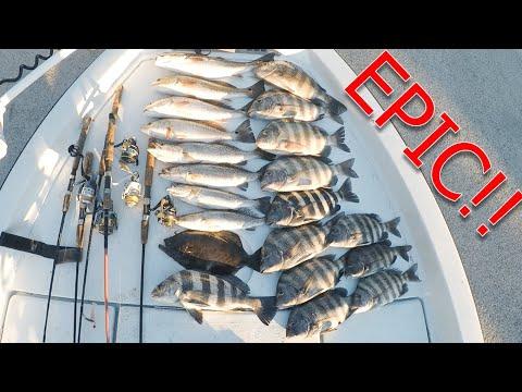 EPIC Day Fishing Inshore Jacksonville Florida (Redfish, Trout, Flounder, Sheepshead, Black Drum)