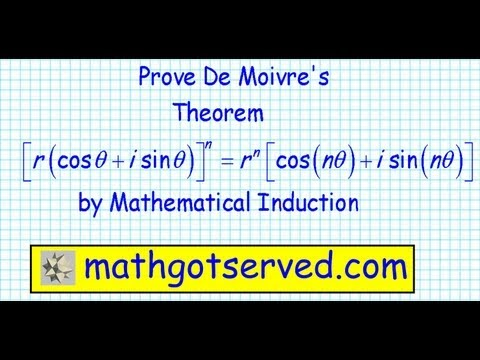 Proof of de moivre's theorem by induction mathematical precalculus discrete math