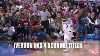 SportsCenter Higlights - Carmelo Anthony passes Allen Iverson on all time scoring list thumbnail
