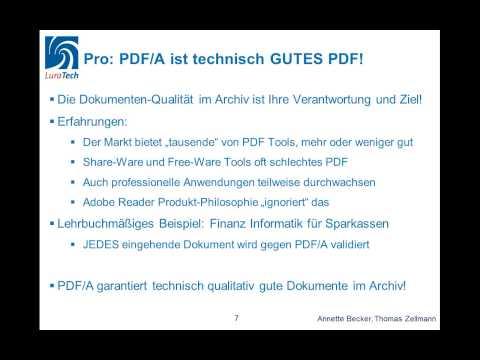 Webinar: PDF/A Oder Nicht PDF/A - Entscheidungskriterien