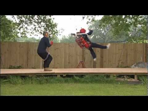 British Rocketman Almost Kills Himself With A Home-made Jetpack!!