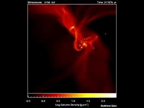 Star formation by collapse of molecular clouds - YouTube