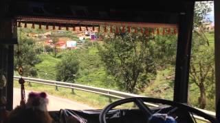 Bus ride around Nuwara Eliya tea plantations