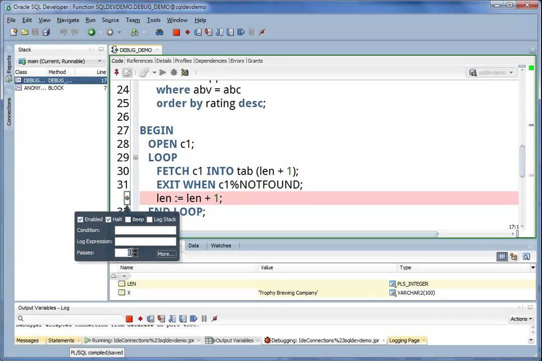 PL/SQL Developer 10.0.5.1710