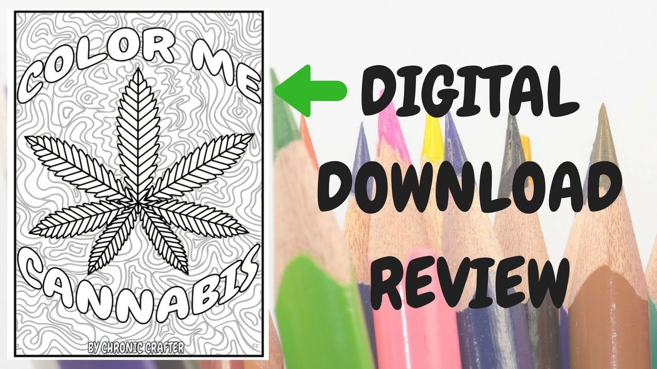 a look at color me cannabis the marijuana themed coloring book for stoners as a digital download - Cannabis Coloring Book