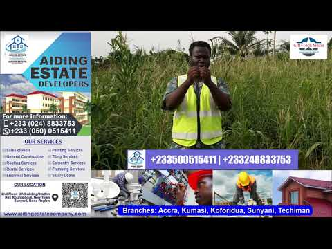 Plots of land available at the Sunyani