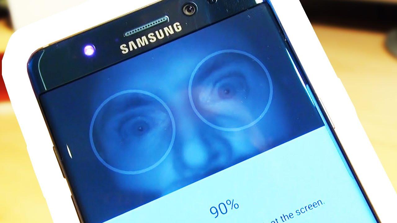 How To Setup Samsung Galaxy Note 7 Iris Eye Scanner Youtube