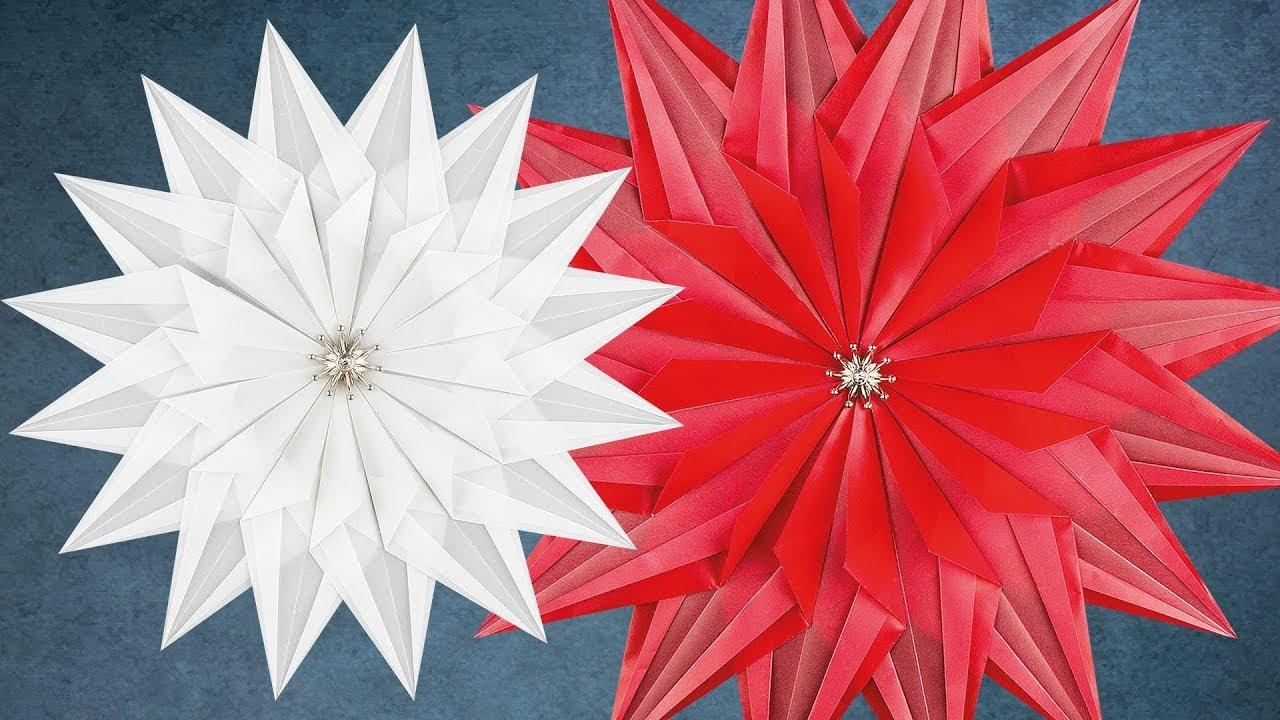 Ideen Mit Herz Faltstern Estella Einfache Faltanleitung Transparentpapier Sterne Basteln