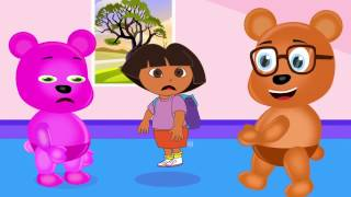 Masha And Dora Crying Crashed Train. Маша и Медведь Finger Family Nursery Rhymes For Children.