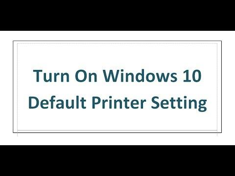Turn On Windows 10 Default Printer Setting