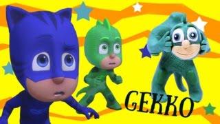 Make Gekko from PJ Masks he meet Catboy PLAY DOH / Лепим Герои в масках
