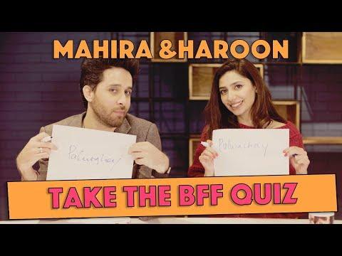 BFF Quiz with Mahira Khan and Haroon Shahid | MangoBaaz