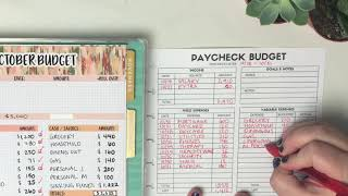 Paycheck to Paycheck Budget & Cash Envelopes Stuffing | October 2019 Paycheck Budget