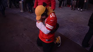 Fans ride the emotional roller coaster as Chiefs lose to the Patriots in the AFC Championship game