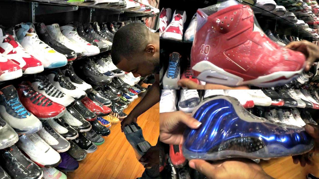 BEST JORDAN RETRO SHOP I EVER SEEN! YEEZYS! RARES! HEAT! Shooping  @RecessUDistrict SneakerHead Ep.9 - YouTube
