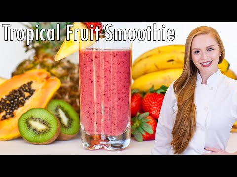Tropical Fruit Smoothie with coconut milk