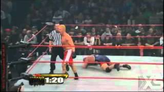 tna genesis 2011 slow motion video proof kurt angle using a razor to draw blood from his forehead