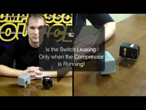 3 Reasons for an Air Compressor Leaking Pressure Switch