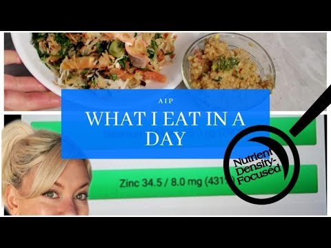 What I eat in a day of AIP