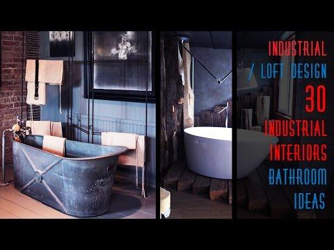 30 Industrial Style Bathroom Design Ideas