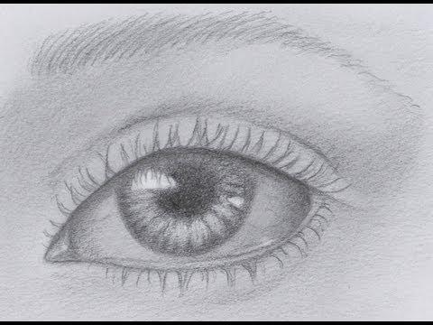 How to draw a realistic eye youtube for Como pintar un ojo