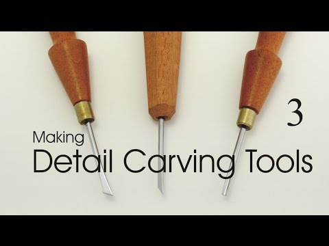 Making Detail Carving Tools:  Part 3.  Handles