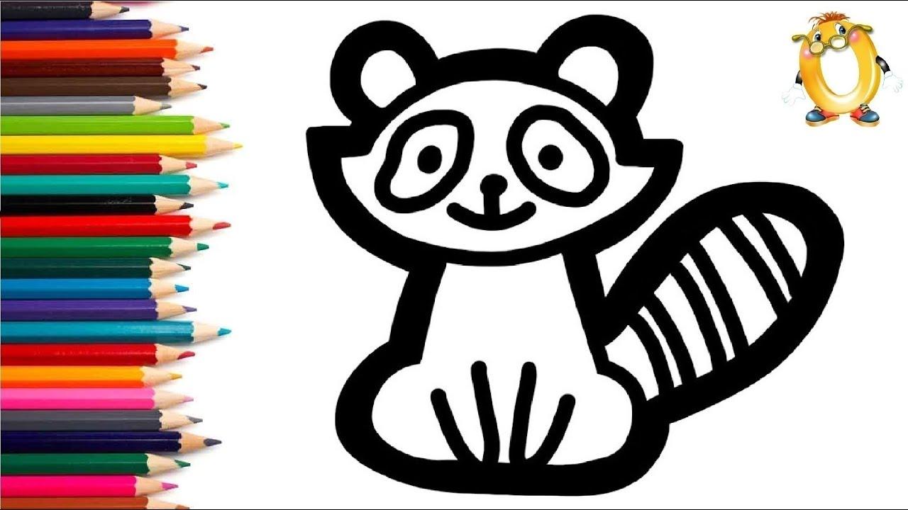 Раскраска для детей ЕНОТ. Мультик - Раскраска. Учим цвета ...