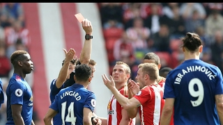 Sebastian Larsson given a stupid  RED CARD  ▶ MANCHESTER UNITED VS SUNDERLAND 1-0 PREMIER LEAGUE