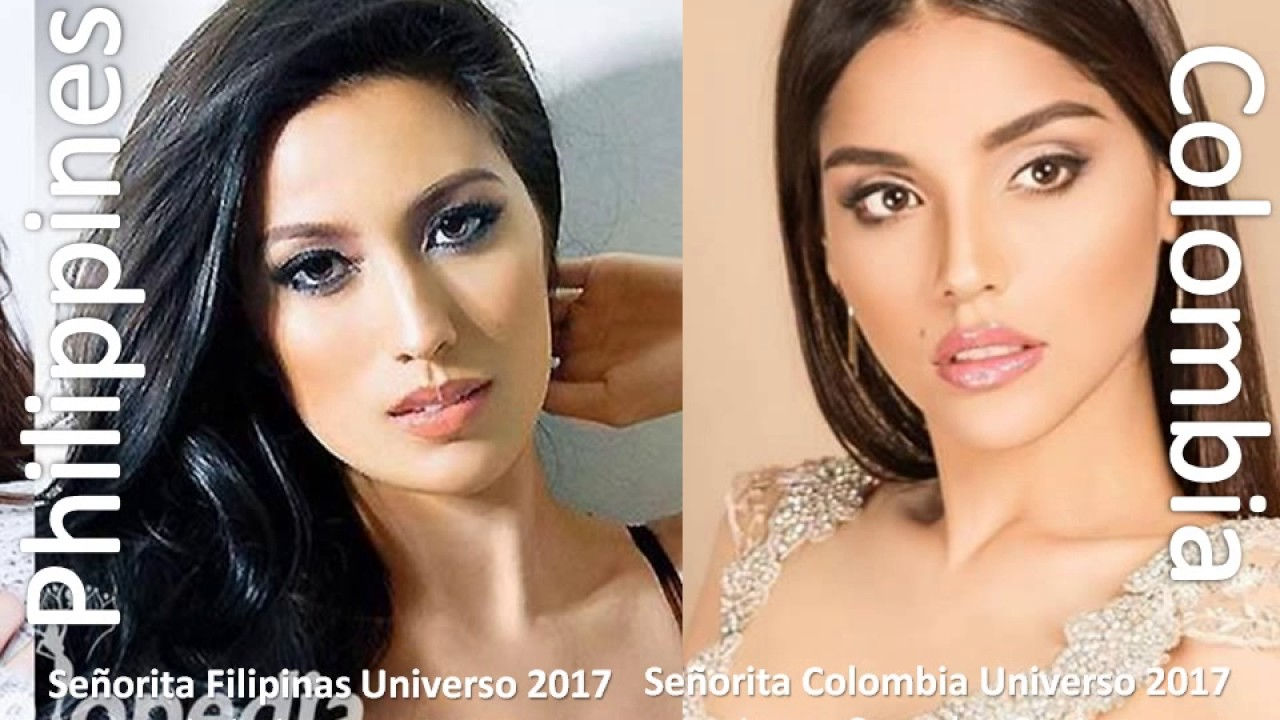 Who Is Miss Universe 2018 >> Miss Universe 2017 -- Miss Philippine Universe 2017 vs Miss Universo Colombia 2017 - YouTube
